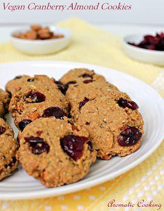 Aromatic Cooking: Vegan Cranberry Almond Cookies