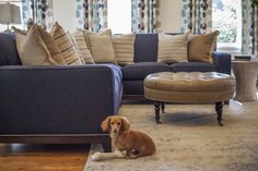 Example of a blue sectional