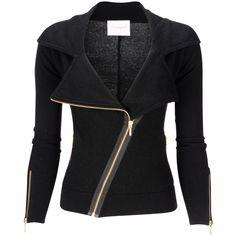Biker Jacket Black ($420) ❤ liked on Polyvore featuring outerwear, jackets, tops, coats, coats & jackets, women, motorcycle jacket, moto jacket, biker jacket and rider jacket