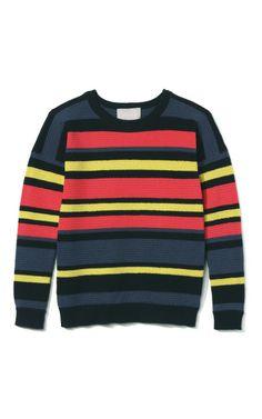 Long Sleeved Striped Sweater by Jason Wu for Preorder on Moda Operandi