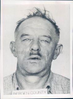 1938 Photo Murder Suspect John Red Metal Lather Lyndhurst NJ Police Record
