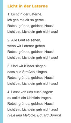 Laternenlieder Hl Martin, German Language, Nursery Rhymes, About Me Blog, Teaching, Ursula, Winter, Check, Little Monsters