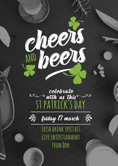 Cheers & Beers St Patrick's Day Promotion Template - DIY Designs and Poster Templates from Easil.