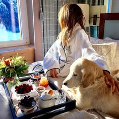 """- """"From my bathrobe to couture—I'm ready for Paris after a refreshing spa vacation at the Kulm hotel in St. Moritz!"""""""