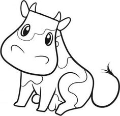 Animals - How to Draw a Cow for Kids