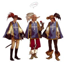 Prussia, France, and Spain as the three Musketeers Gilbert Beilschmidt, Bad Touch Trio, First Knight, Hetalia America, Bad Friends, The Three Musketeers, Another Anime, Axis Powers, Pretty Art