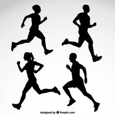 Free vector Runner silhouettes #3378 | My Graphic Hunt