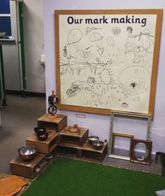 Always Early Years ( Preschool Classroom Layout, Reggio Classroom, Classroom Organisation, New Classroom, Preschool Activities, Early Years Displays, Class Displays, Classroom Displays, Mark Making Early Years