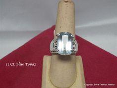Light Blue Topaz Prong Ring