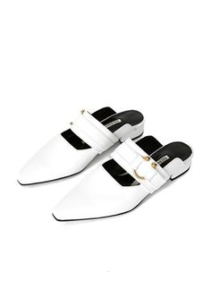256cd54fd48 SALONDEJU Sj16107wt Retro Bloafer Shoes Sandals