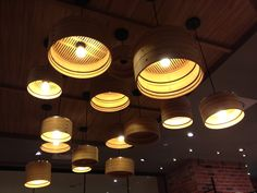 Using bamboo steamers as lamp shape - saw it at Pochi restaurant in Taiwan