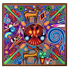 Mexican Wall Art, Psy Art, Aztec Art, Sacred Symbols, Mexican Artists, Popular Art, Hippie Art, Indigenous Art, Visionary Art