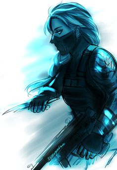 Winter Soldier Elsa << This is just awesome<<< wait. Is it Elsa, or just a genderbent Bucky with hair braided? Disney Love, Disney Magic, Disney Frozen, Disney Art, Elsa Frozen, Disney And Dreamworks, Disney Pixar, Jack And Elsa, Disney Crossovers