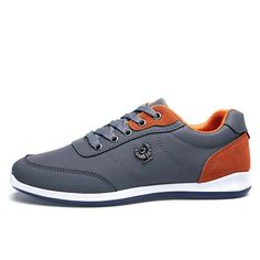 New Lace Up Designer Mens Casual Flats Spring Autumn Fashion Brand Men Trainers Outdoor Shoes Male Footwear Black Blue Grey