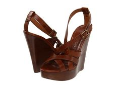 Shop Classic, Contemporary and Designer clothing, shoes and accessories at The Style Room (powered by Zappos)! Tan Sandals, Platform Wedge Sandals, Purse Game, Brown Wedges, Crazy Shoes, Shoe Game, Chic, Burberry, Footwear