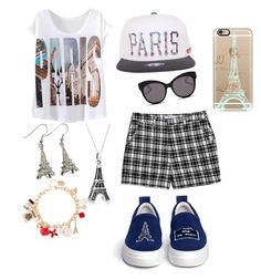 """PARIS"" by gurveenpanesar ❤ liked on Polyvore featuring Casetify, Lucy Paris, Blanc & Eclare, Bling Jewelry and Joshua's"