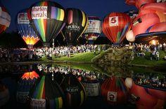 Great Balloon Race in Forest Park St. Louis (balloon glow) / http://www.greatforestparkballoonrace.com/