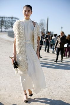 This was on vogue fashion week but it would be a great wedding look i think.