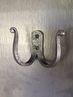 Double hook double hanger coat hooks by ArtIronworks on Etsy