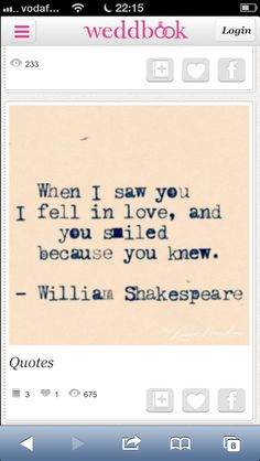 Shakespeare wedding quote