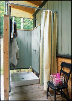 i know it's crazy, but i really want an outdoor shower.