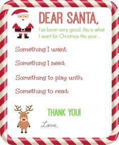 Santa Letter Printable - Organize and Decorate Everything
