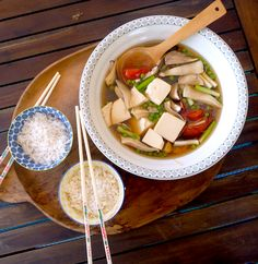 Braised Bean Curd (Firm Tofu) with Mushrooms | Recipe | Tofu ...