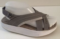 Womens Size 6 M CURVES Pointure GRAY  TONING ROCKER SANDALS SHOES #CURVES #SportSandalsToningRockers
