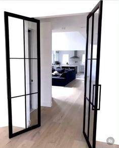 Office Interior Design, Luxury Interior Design, Home Room Design, House Design, Indoor Doors, Double Doors, House Rooms, French Doors, Living Room Decor