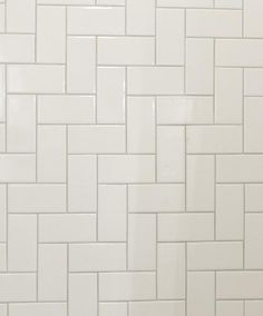 regular subway tile installed perpendicular with a slightly darker grout | Sarah Richardson Design