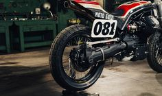 """Moto Guzzi Griso Flat Tracker by Cafe Racer Napoli for """"Lord of the Bikes 2017"""""""