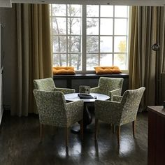 Upgrading rooms by me. New Fabric on old chairs William Morris @nääsfabriker hotel&restaurant, Tollered, Sweden
