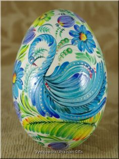 Petrykivka Ukrainian Real Goose Egg Pysanka [rp2820] - $50.00 : Vyshyvanka Ukrainian Gifts