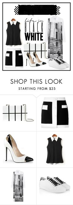 """""""Outfit #176"""" by petiteuniquebri ❤ liked on Polyvore featuring The cARTel, DKNY, Michael Kors and monochrome"""
