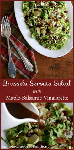 Brussels Sprouts Salad with Maple-Balsamic Vinaigrette