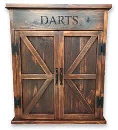 Premium Reclaimed Wood Dart Board Cabinet #woodworkingideas