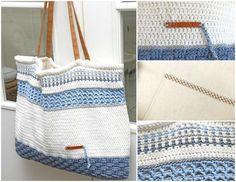 Gehaakte strandtas Jip by Jan  Crochet bag  #crochet #haken