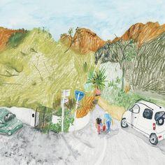 Parisian illustration style by Dominique Corbasson Love Illustration, Digital Illustration, Beautiful Sketches, Korean Art, Naive Art, Watercolor Art, Cool Art, Drawings, Artwork