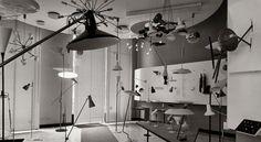 Gino Sarfatti, Master of Light - NYTimes.com   arteluce store in the 60's