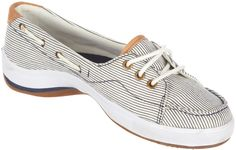 Go nautical with these pin striped boat shoes!