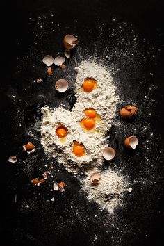 eggs on the flour by MEM Studio - Stocksy United Best Food Photography, Cake Photography, Food Photography Styling, Still Life Photography, Food Styling, Supermarket, Egg Photo, Stock Imagery, Creative Food