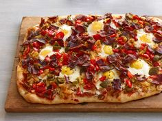 Ree's filling Breakfast Pizza, topped with a piquant salsa, is good anytime of day. Best of all, it's ready in under an hour.