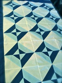 Tube quilt, really simple way to make triangle squares