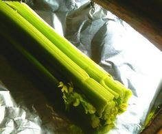 keep celery fresh It also works w/ peppers & broccoli, but other veg require other environments. Lettuce- in plastic bag packaged w/ paper towel (absorb moisture) & occasionally let fresh air into bag. Carrots- paper bag (can be made crisp again by soak in ice water for an hour). Asparagus -treat it like a flower & put the open ends of stems in water in fridge & then cover the tops with plastic. Tomatoes stem side down in paper bag. Mushrooms in paper bag, not plastic.