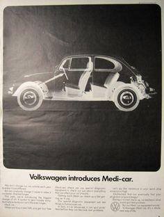 1969 Volkswagen Beetle Ad ~ Introducing Medi-Car