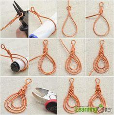 Accesorios de Moda: El tutorial de foto sobre pendientes naranjas de envoltura de alambre