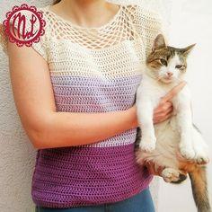 Simply Cute Blouse By Barbara Peček - Free Crochet Pattern - (ravelry)