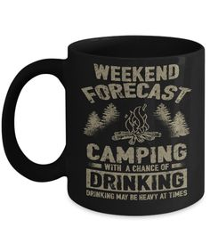 43f024af5da Weekend Forecast - Camping With A Chance Of Drinking - Mug hockey outfit