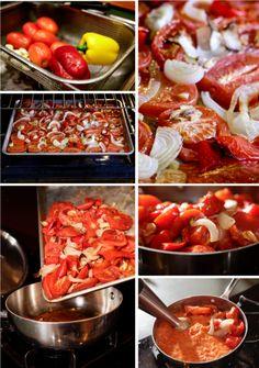 Best Tomato Recipes Oven Roasted Tomato Sauce Homesteading Kitchen Recipe Homesteading - The Homestead Survival . Oven Roasted Tomatoes, Roasted Tomato Sauce, Canned Tomato Sauce, Tasty, Yummy Food, Canning Recipes, Pasta Dishes, Italian Recipes, Sauces