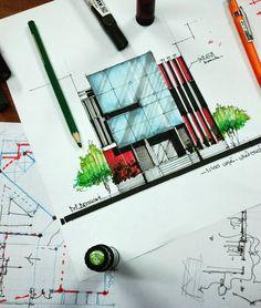 "2,415 Me gusta, 8 comentarios - MOHAMMAD ANSARI (@m.ansari.architect) en Instagram: ""کلاس #آموزش_اسكيس #آمادگی_آزمون_ارشد_معماری Architectural design... Marker: 268/302/w.02…"""